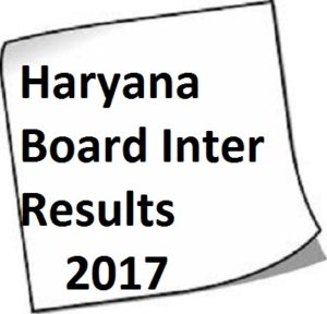 HBSE 12th Results 2017