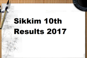 Sikkim 10th Result 2017