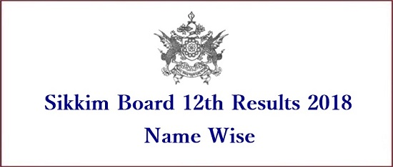 Sikkim 12th Results 2018