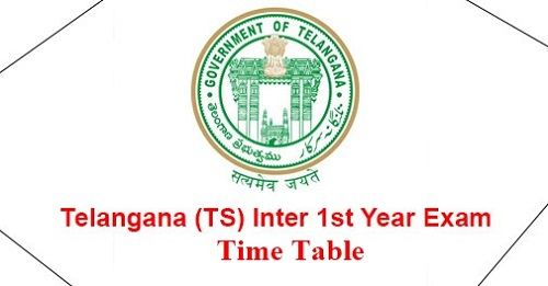 Telangana Inter 1st Year Exam Time Table 2018
