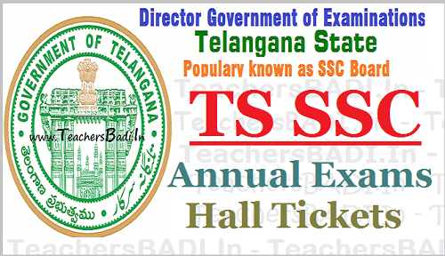 TS SSC Hall Tickets