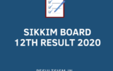 SIKKIM BOARD 12TH RESULT 2020