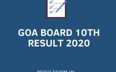 GOA BOARD 10TH RESULT 2020