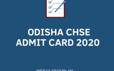 ODISHA CHSE ADMIT CARD 2020