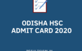 ODISHA HSC ADMIT CARD 2020