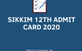 SIKKIM 12th ADMIT CARD 2020