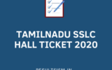 TAMIL NADU SSLC HALL TICKET 2020