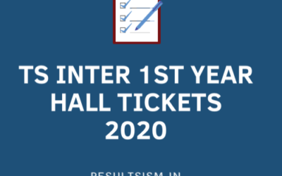 TS INTER 1ST YEAR HALL TICKETS 2020